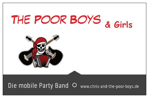 the poor boys die mobile party band referenzen. Black Bedroom Furniture Sets. Home Design Ideas